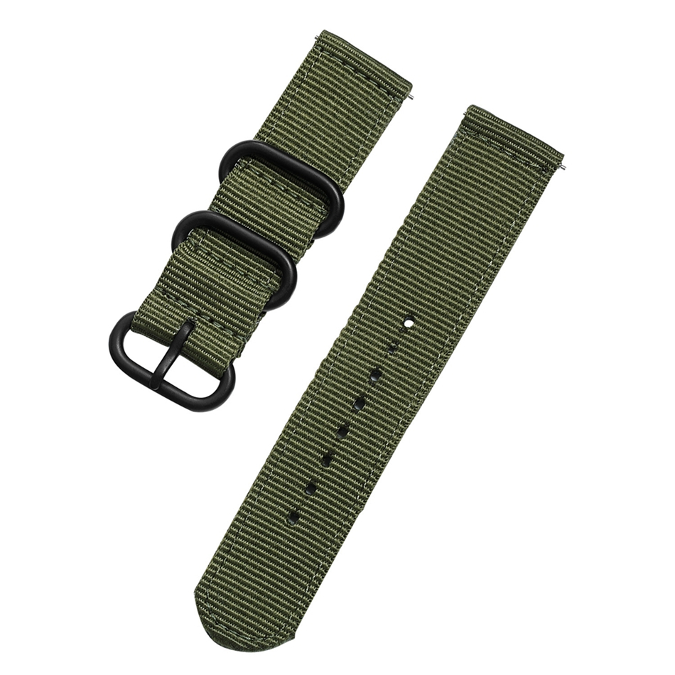 Canvas Nylon Wristband Strap For Xiaomi Amazfit Stratos 2 Pace Straps For Amazfit Bip Watch band For Samsung Gear S3 S2 Bracelet10