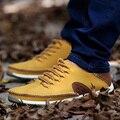 2016 Brand New Мужские Квартиры Весна осень мужская Повседневная Обувь Кожа Коровы Ручной Работы Человек Sapatos Социальной Обувь Zapatos Scarpe