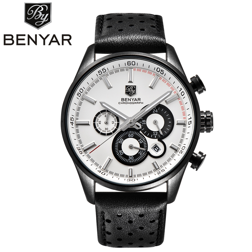 Reloj Hombre 2017 BENYAR Fashion Chronograph Sport Mens Watches Top Brand Luxury Military Quartz Watch Clock Relogio Masculino reloj hombre 2017 benyar fashion chronograph sport mens watches top brand luxury military quartz watch clock relogio masculino