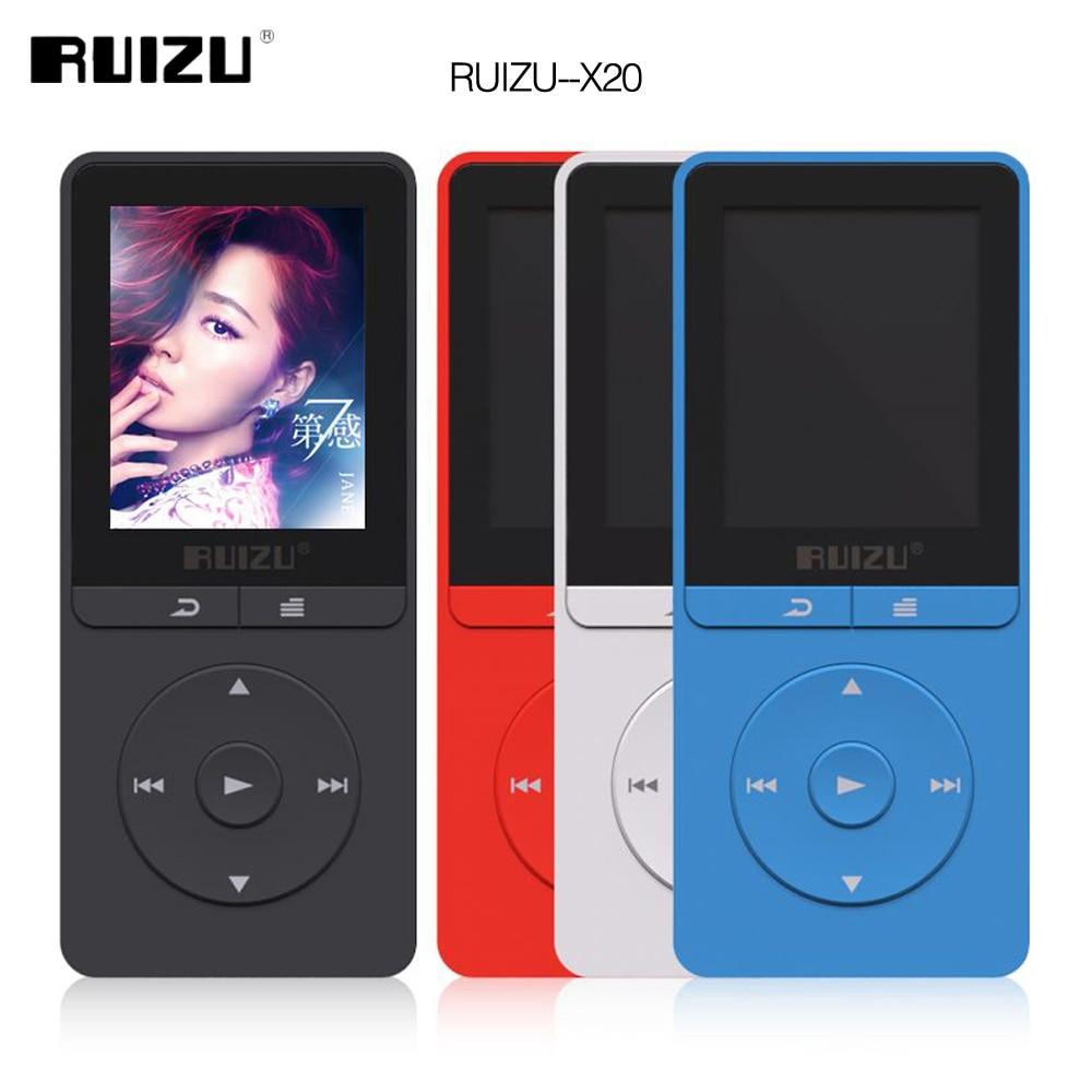2016 latest Original RUIZU X20 MP3 Player With 1.8 Inch Screen Can Play 100 hours,8gb With FM,E-Book,Clock,forChristmas gift rui ruizu x20 16g синяя линия поддержки без потерь качества звука mp3 mp4