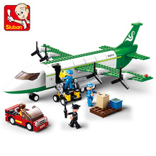 Sluban Model Building Compatible B0371 383pcs Kits Classic Toys Hobbies Cargo Assembling