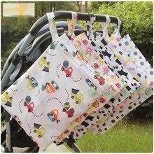 30*40 см один карман влажный мешок, Детская сумка для подгузников, водонепроницаемый многоразовый Nappy сумки Мумия сухой мешок