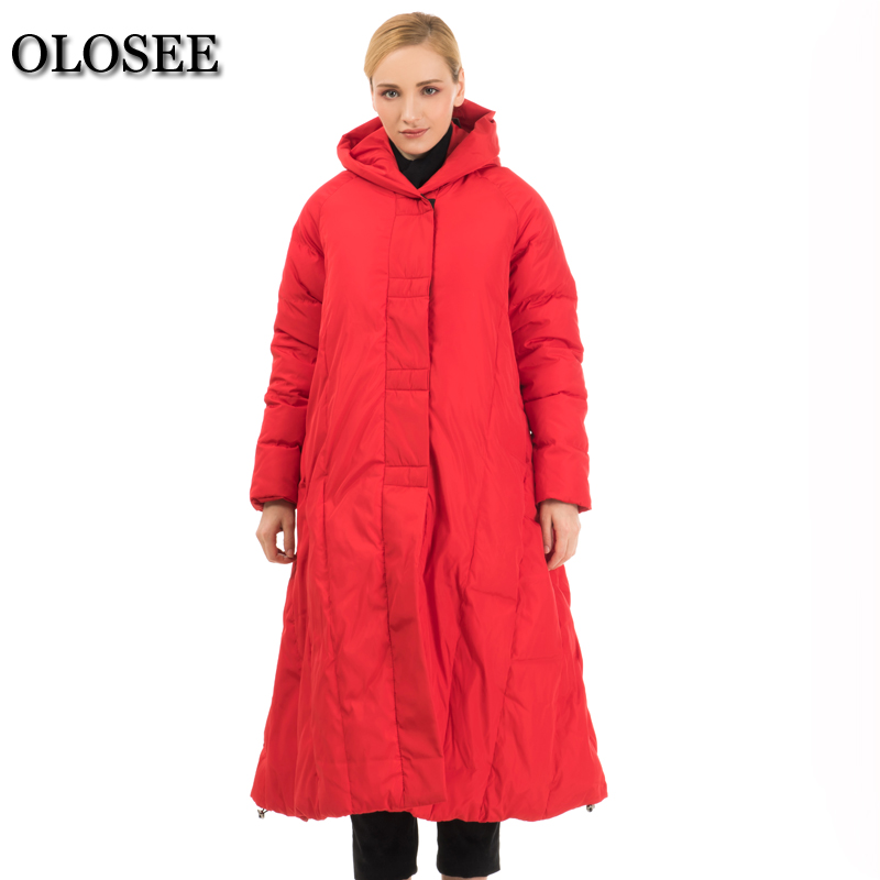 2017 New Winter Women Down Jackets White Duck Down Coat Female Hooded Loose Thickening Parka Long Outerwear Plus S-7XL new men s military style casual fashion canvas outdoor camping travel hooded trench coat outerwear mens army parka long jackets