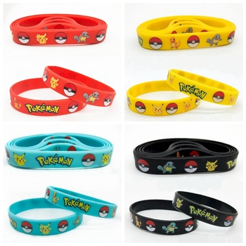 40pcs New Trendy Charms Game Wristband Lovely Cartoons Silicone Bracelet Cartoon Bangles Kids Birthday Party Decoration Gift Toy