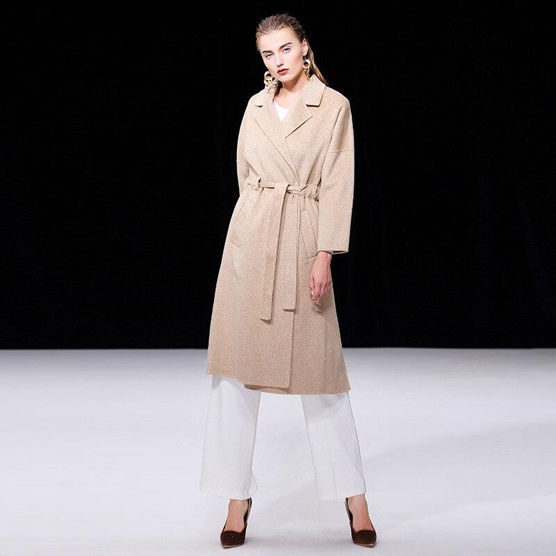 Femmes long Manteau Cachemire Kaki Mode Automne Femelle 2018 rouge Taille La End Coréenne X High Europe Nouvelle Pardessus Plus D'hiver De Laine TaEAwqxtp