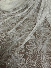 Hot selling glued glitter tulle Lace Fabric glued glitter lace fabric JIANXI.C 102716 for party dress