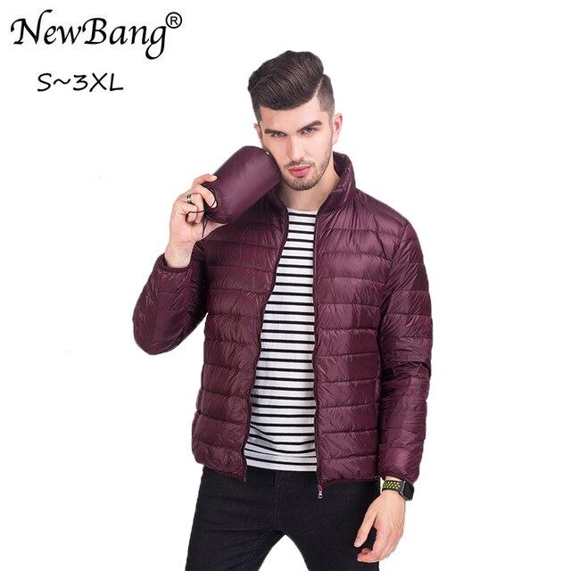 New Bang Feather Parka Man Ultra light Down Jacket Men Outwear ...