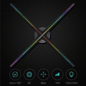 AUSIDA 70 см 3D Голограмма рекламный дисплей wifi логотип проектор светодиодный голографический вентилятор голограмма proyector голографический вент...