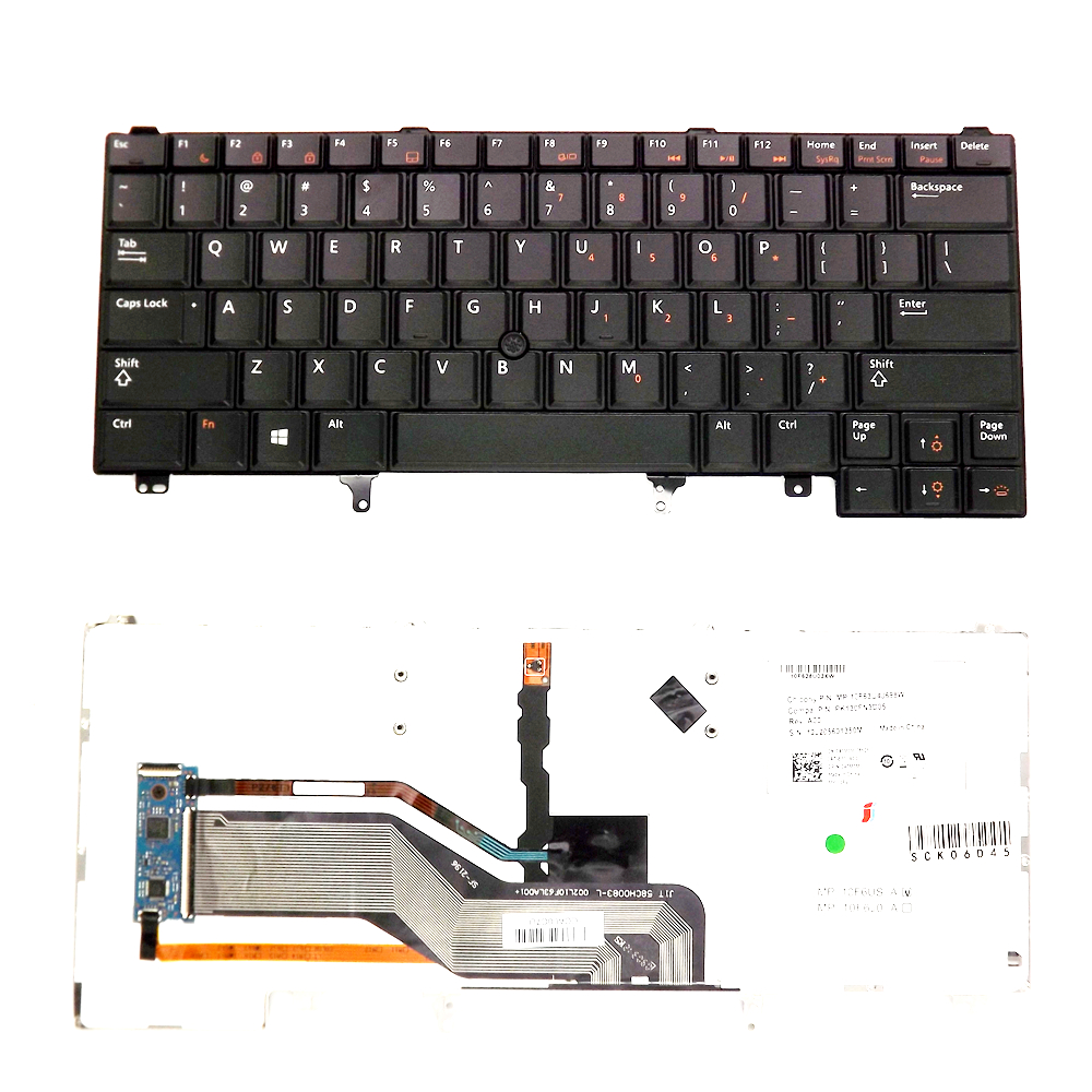 <font><b>Keyboard</b></font> FOR <font><b>Dell</b></font> <font><b>Latitude</b></font> E6320 E6330 E6420 E6430 E6440 <font><b>E5420</b></font> E5430 Backlit free shipping black image