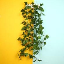 2,5 м искусственный зеленый Бостонский плюща лоза струны Свадебные потолочные вечерние украшения для дома и сада романтические вечерние украшения для гостиной