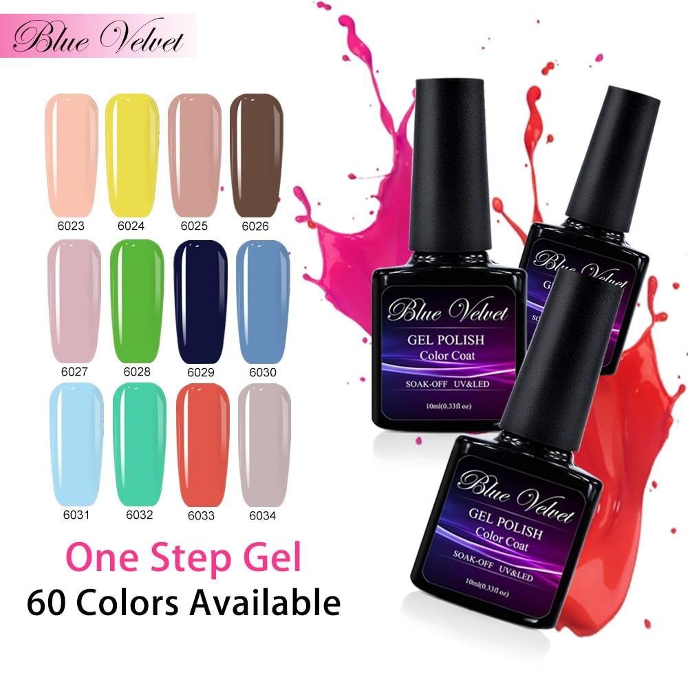 Blue Velvet Soak Off 10ml UV LED Gel Nail Polish One Step