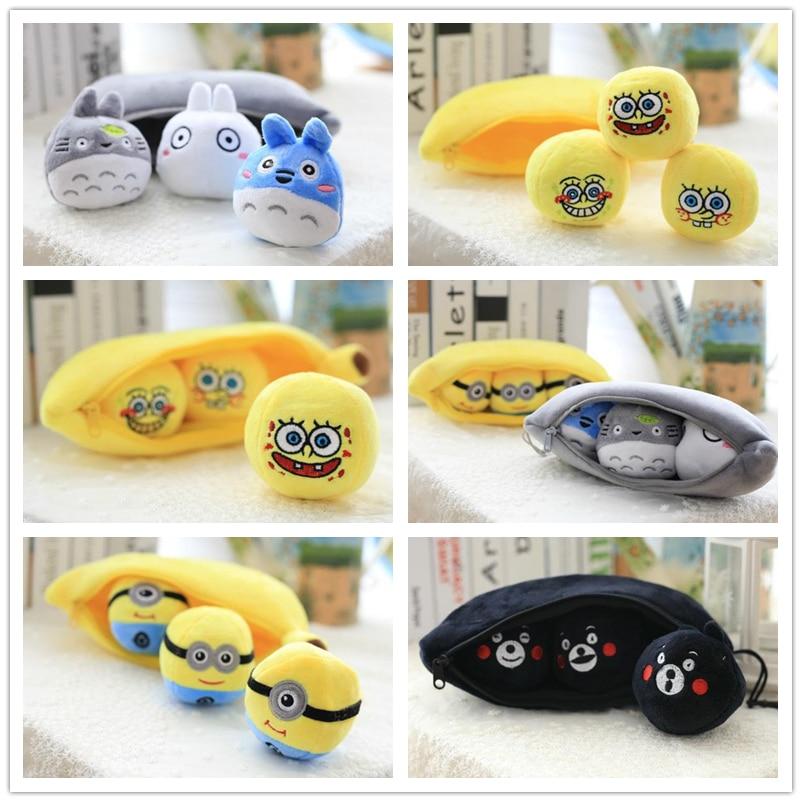 Retail 30cm My Neighbor Totoro <font><b>minions</b></font> <font><b>banana</b></font> pea pod peas plush toys to a child's birthday Christmas Toys