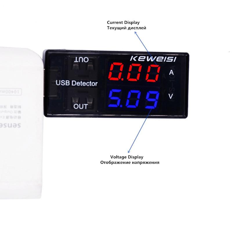 Tester di tensione di corrente USB Amperometro di tensione USB Rilevatore USB Doppia fila Mostra Nuovo prezzo di fabbrica 20%