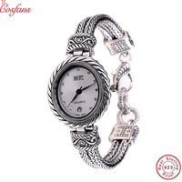 Silver Products Manufacturers Direct S925 Sterling Silver Jewelry Wholesale Jewelry Retro Thai Silver Ladies Bracelet Watch 2019
