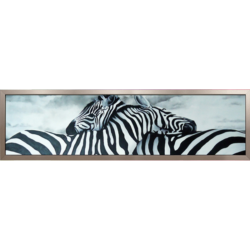 Saiz 160x48CM Diy 5D Pusingan Matte Diamond lukisan SENTIMENTALovers panjang-Zebra berlian buatan mozek kerajang penuh Diamond sulaman