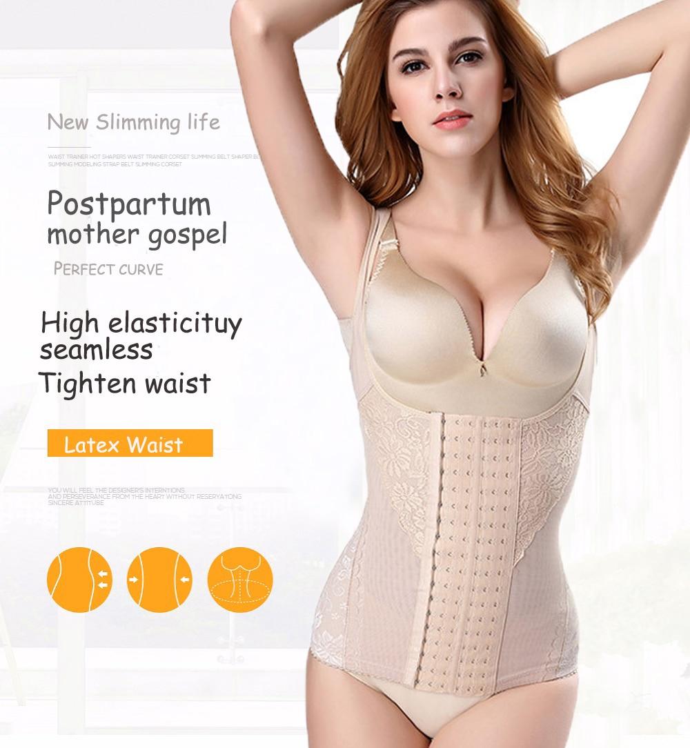 Slimming Underwear Shapers Waist Trainer Corset Slimming Women body ... 6782e8fae