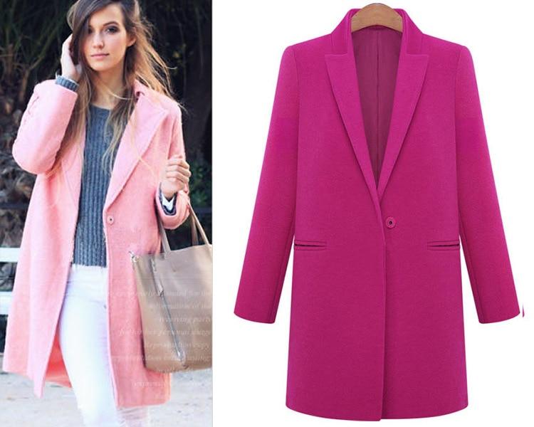 Online Shop 2016 Winter Woolen A Line Women Coat Ladies Coats ...