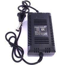 Chargeur de Scooter électrique Standard de lue 36V 1.8A 3 broches XLR prise femelle Gel plomb acide puissance intelligente charge rapide 12AH 14AH 20AH