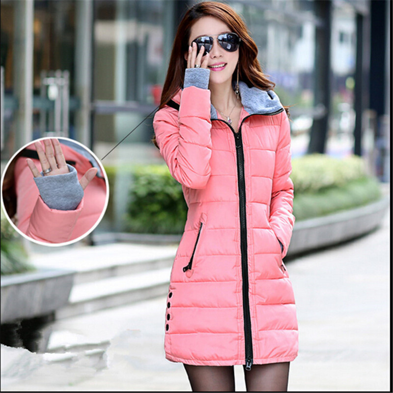 Plus Size Winter Jacket Women Long Parka Outerwear Women's Wadded Jackets Female Hooded Coat Casual Overcoat Coats C1263 wadded jacket female short winter coat women slim thin coat removable hooded cotton female parka casual jackets plus size c1118