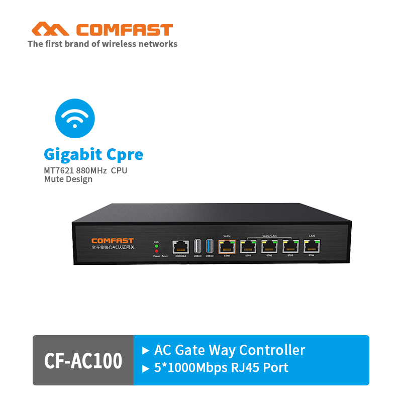 Comfast CF-AC100 Gigabit AC Authentication Gateway Routing MT7621 880Mhz Core Gateway wifi project manager with 4*1000M WAN port