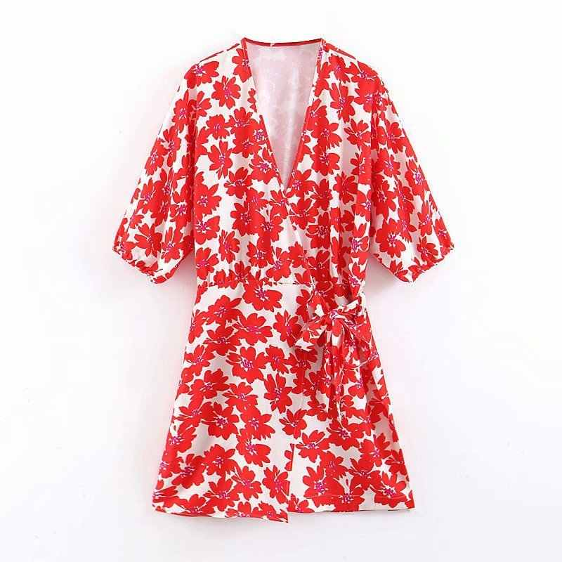 Women Dress Vestidos Mujer Xq8-43-9331 European And American Fashion Wind Printed Dresses
