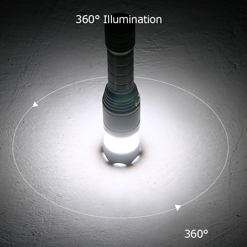 tactical flashlight 18650 cree t6 camping lanterna. Black Bedroom Furniture Sets. Home Design Ideas