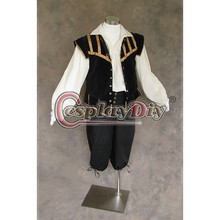 Game of Thrones Men's Renaissance Doublet Black Costume For Halloween Custom Made Cosplay Costume D0430