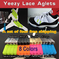 Hot New Screw Metal Yeezy Aglet Shoes Metal Tips Black Silver Gold Lace Tips Mirror Yeezy Laces Aglets for Sneakers