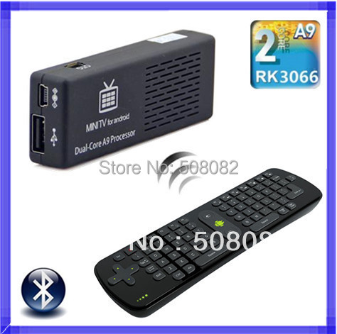 MK808B Android 4.4.2 Mini PC RK3066 1.6GHz Dual Core 1GB RAM 8GB WiFi 1080P HDMI TV Box with Measy RC11 Air Mouse