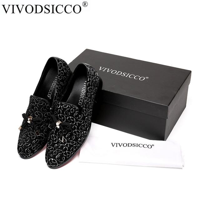 Avec Hommes Luxe Daim Chaussures Vivodsicco En Fleur Mocassins Gland g646Aq