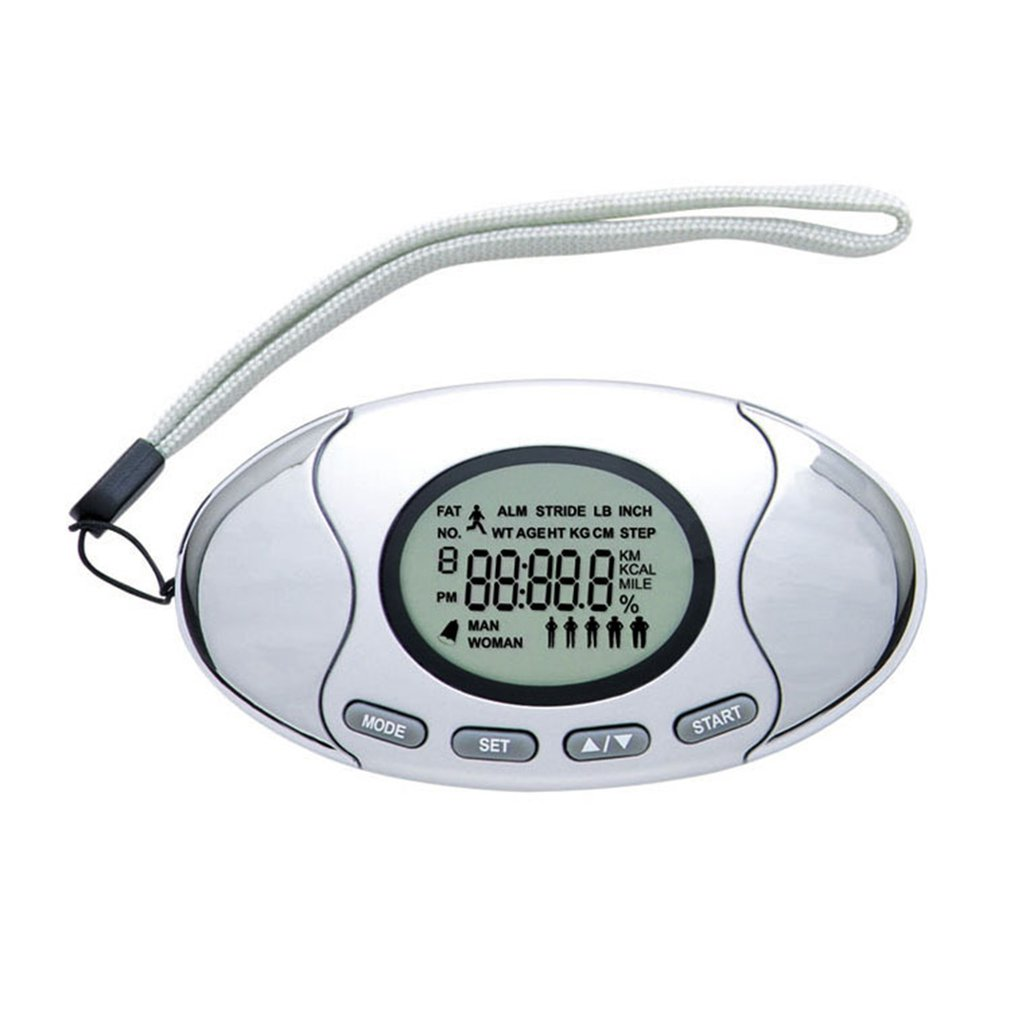 2 IN 1 Multifunction LCD Digital Pedometer Calories Counter For Running Walking Distance Body Fat Analyzer