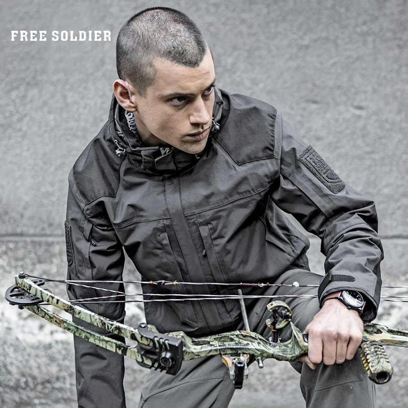 を無料の兵士屋外戦術で暖かい裏地ジャケット、耐摩耗性、通気性、水撥スキーキャンプハイキングコート
