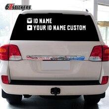 sixsub YOUR ID NAME CUSTOM 95X20CM/45X11cm Car rear file glass stickers customized PVC / reflective film