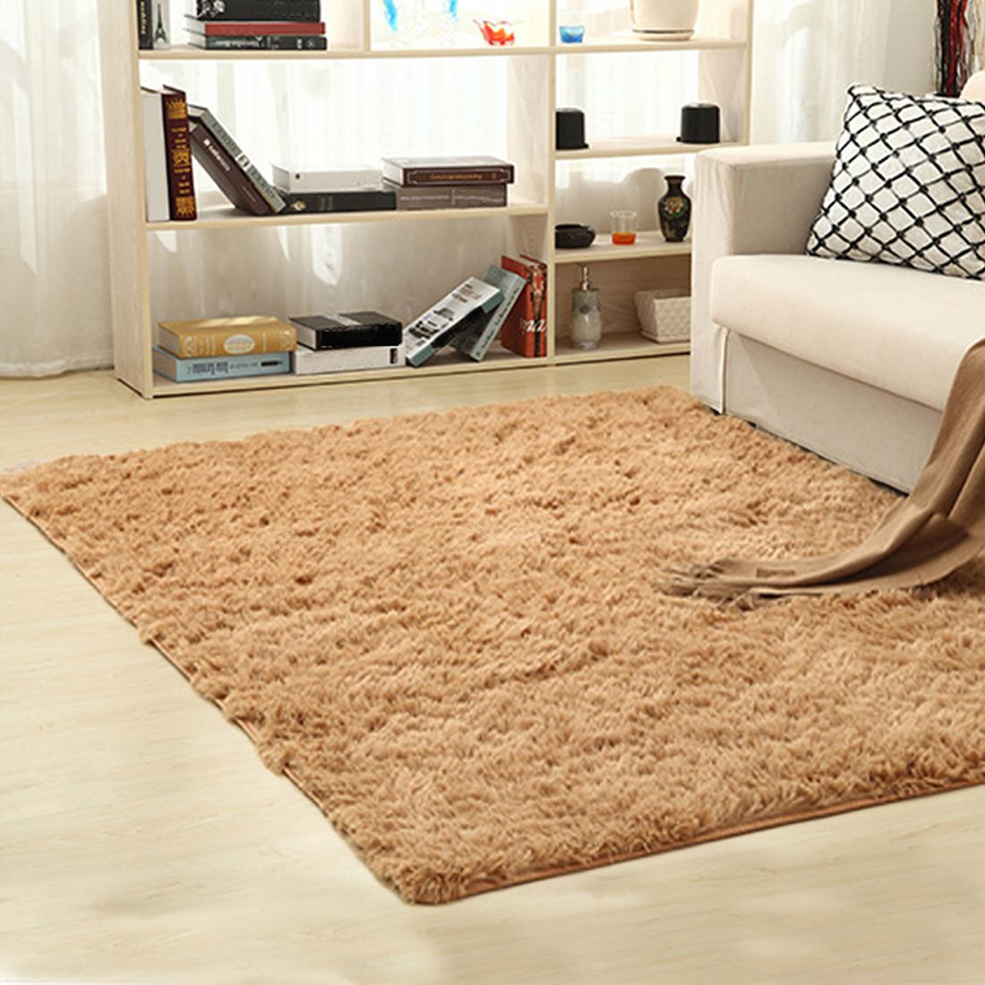hot sale home textile living room carpet big size mat long hair bedroom carpet tea table carpet. Black Bedroom Furniture Sets. Home Design Ideas