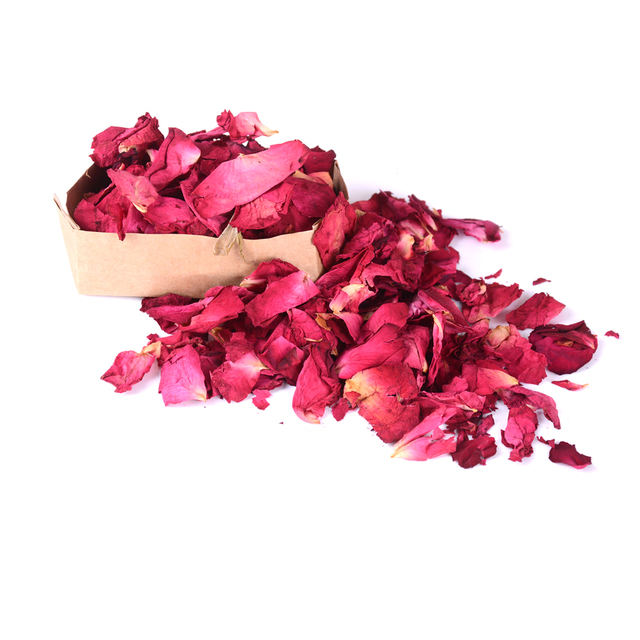 New Romantic 30/50/100g Natural Dried Rose Petals Bath Dry Flower Petal Spa Whitening Shower Aromatherapy Bathing Supply 2