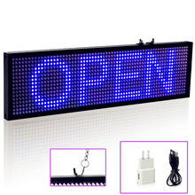 34cm Blue SMD P5 Led Sign Android Phone WIFI Remote Control Programmable Scrolling Message LED Display Board for Business