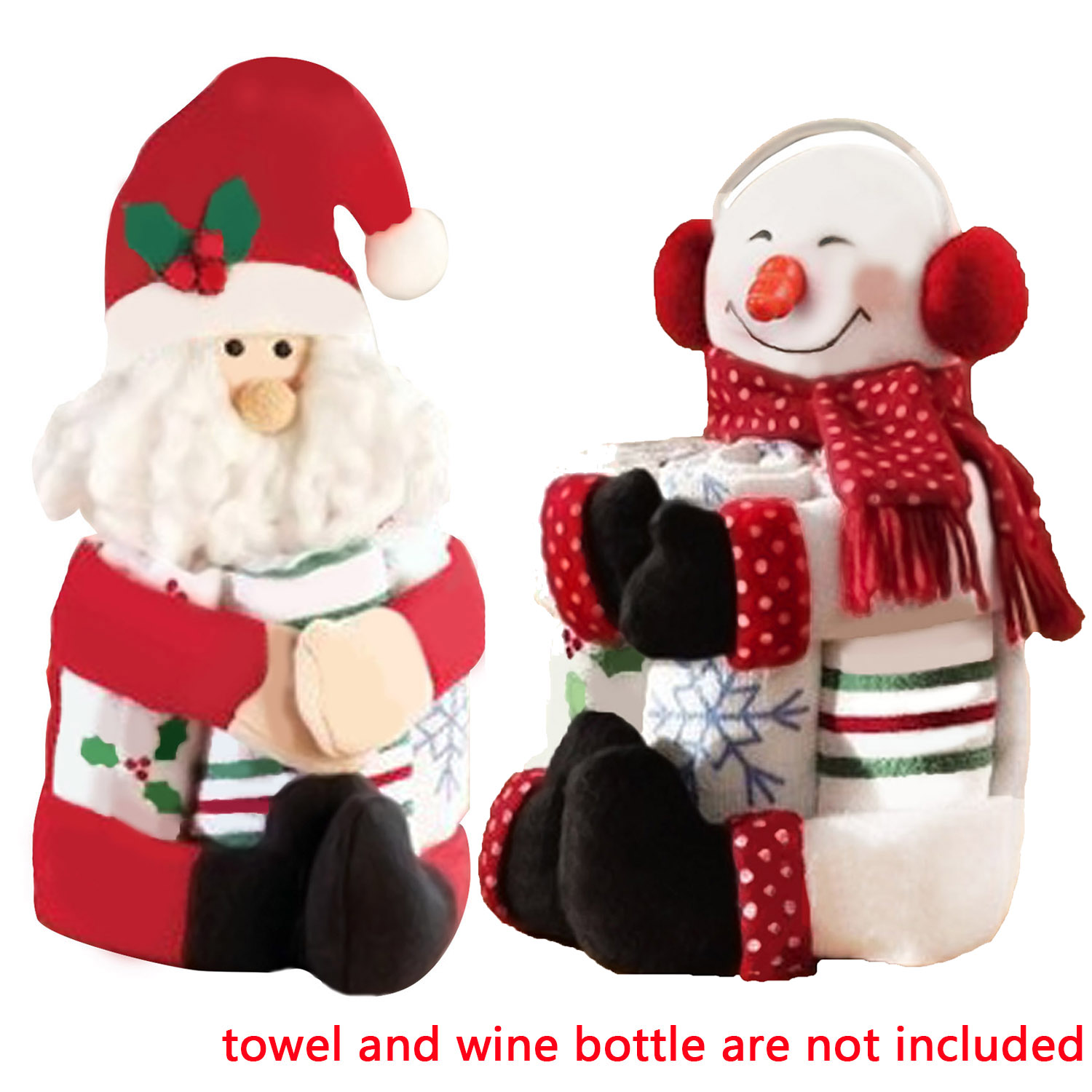 Cute santa claus towel christmas decor - Xmas Christmas Table Party Decoration Supplies Towel Red Wine Bottle Hug Toy Cover China
