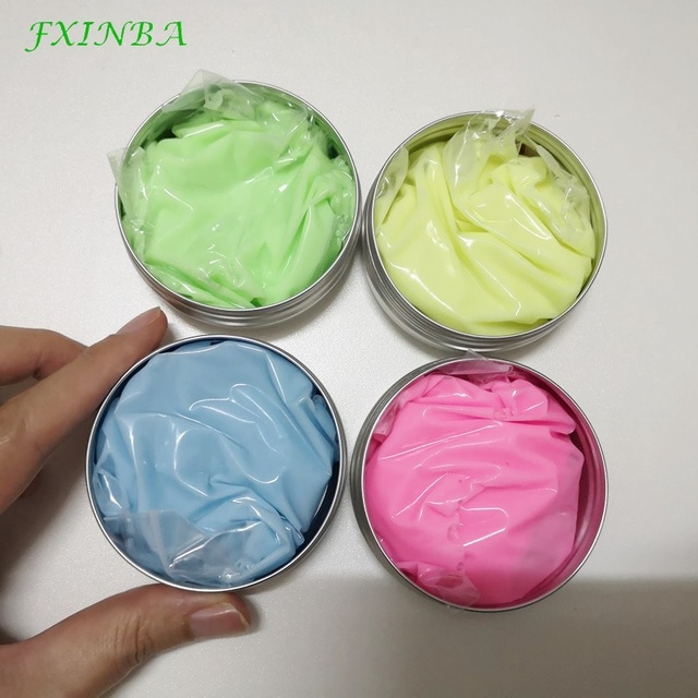 FXINBA DIY Luminous Slime Modeling Soft Polymer Clay Light Glow In The Dark Bouncing Mud Plasticine Lizun Novelty Toys