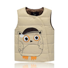 Jacket for girls Baby Boys and Girls Winter cartoon Vest Kids Warm Jacket Children Thick Clothes 4 Color Suit For 3-7 Years Old
