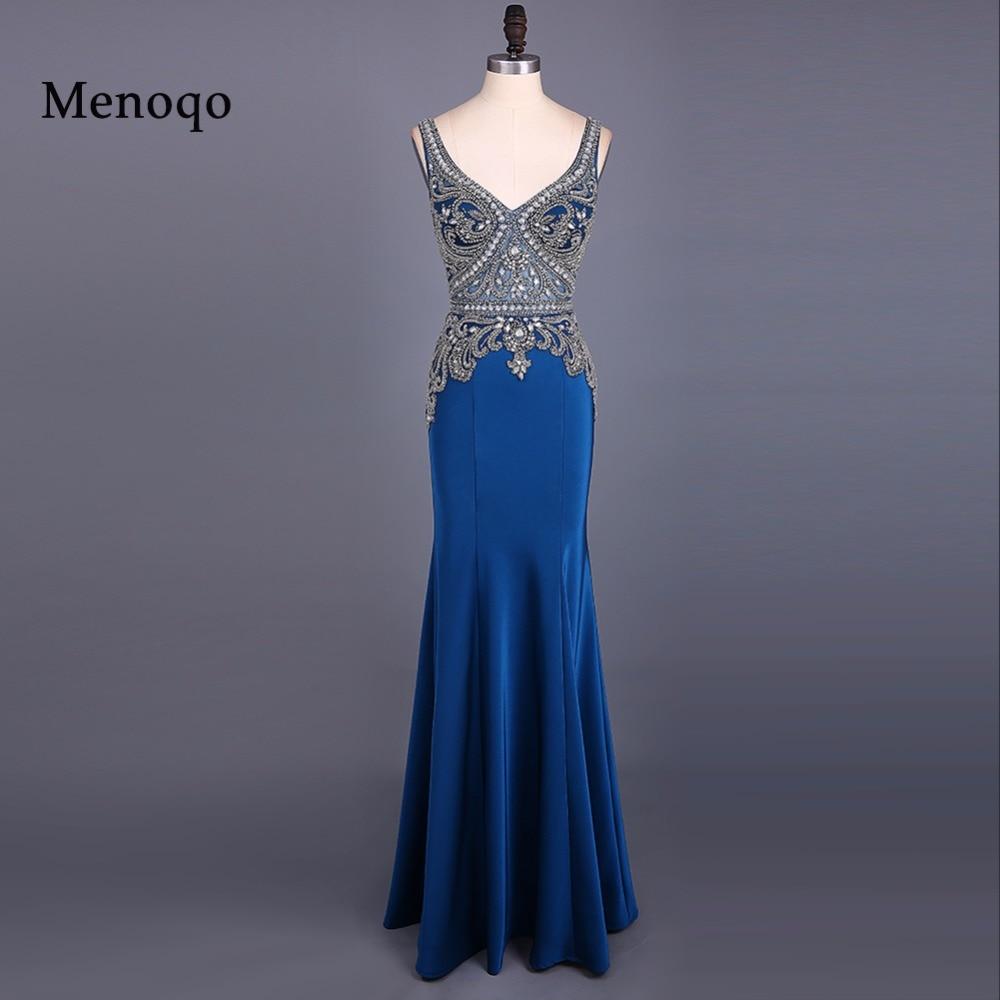 Sexy   prom     dress   beaded V neck mermaid   Prom     dresses   2019 long formal evening party   dress   vestido de festa