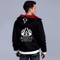 2018 New Darker Hoodies Men Hooded Warm Winter Fashion Thickening Assassins Creed Hoodie Assassin S Creed
