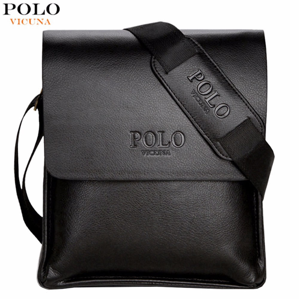 Vicuna polo famous brand leather men bag casual business leather mens messenger bag vintage men s
