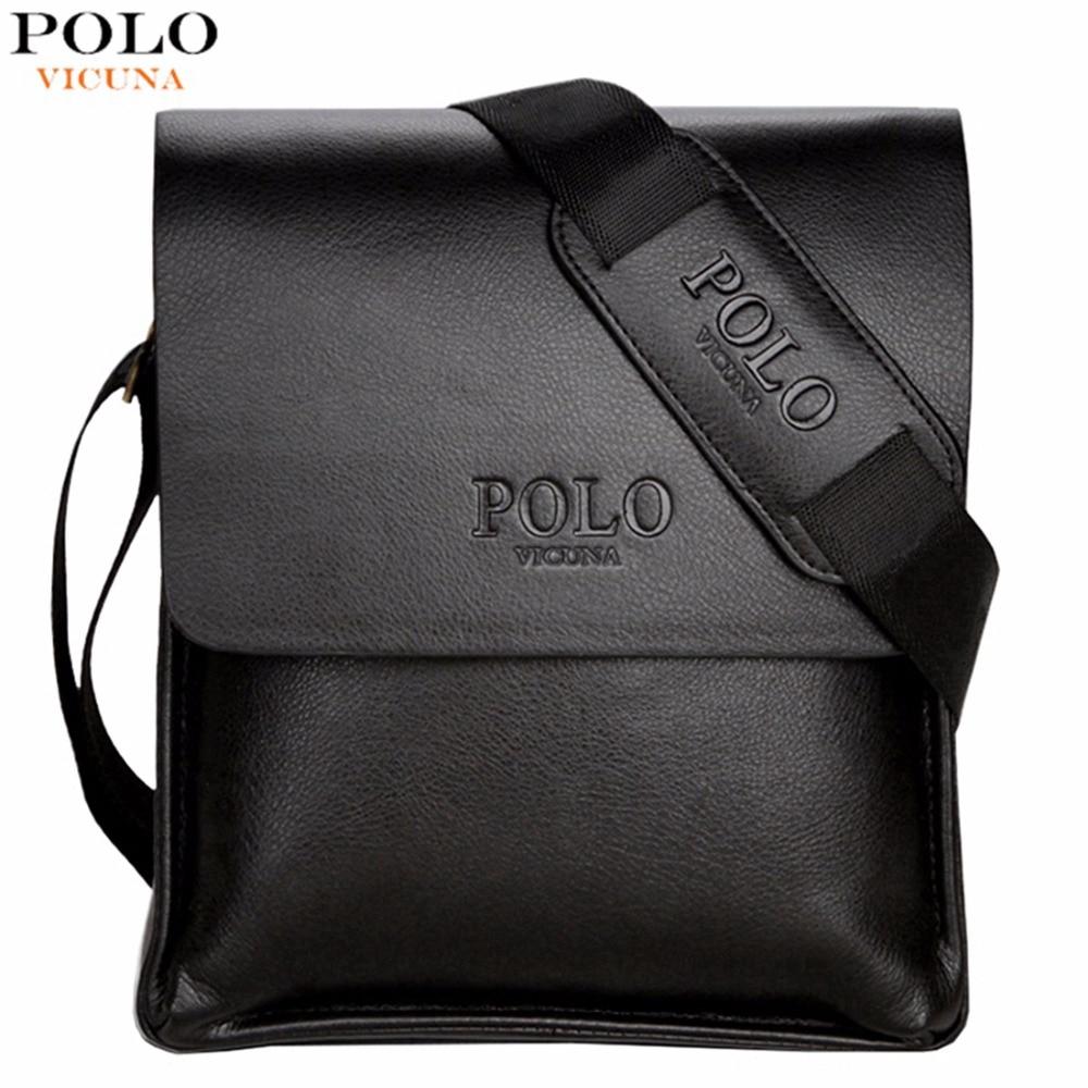 Vicuna polo famous brand leather men bag casual business leather mens messenger bag vintage men s