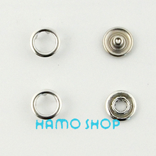 100pcs/lot Free Shipping 9.5mm Silver Ring Prong Snap Button Garment Accessoires Metal Snaps Button Fastener Sewing Craft 50pcs lot 9 5mm black prong open ring no sew press snaps fasteners brass button nickel rivet free shipping