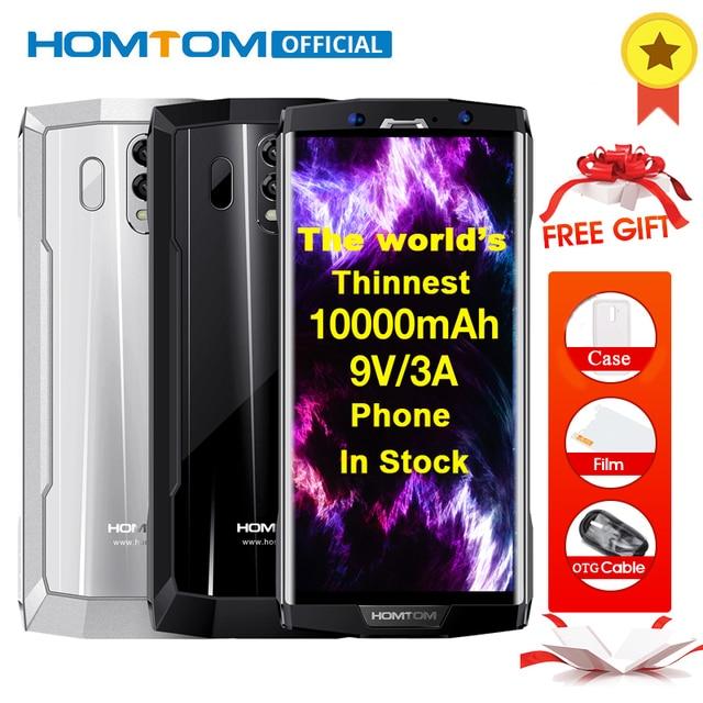 HOMTOM HT70 Octa Core Android 7,0 10000 мАч смартфон 6,0 дюймов 18:9 дисплей 16MP + 5MP двойной камеры 4 Гб оперативная память 64 Встроенная OTG мобильного телефона