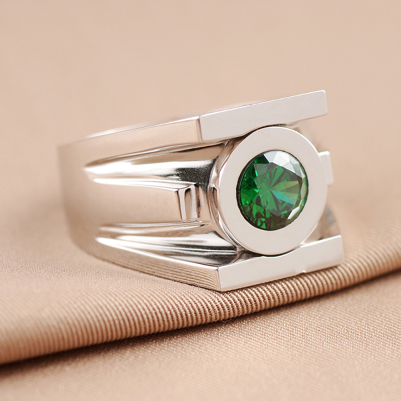 Top Quality Green Lantern Rings Men Superhero Real 925 Sterling Silver Ring Jewelry For Women Free
