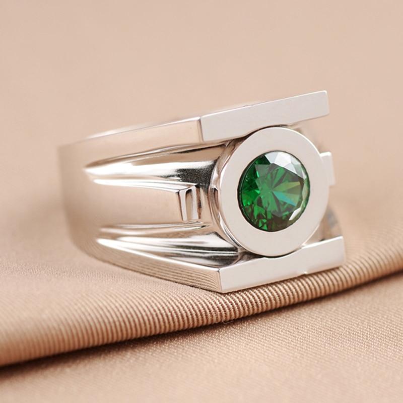 Top Quality Green Lantern Rings Men Superhero Real 925 Sterling Silver Ring Jewelry For Women Free Engraving Drop Ship