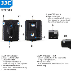 Image 2 - Draadloze Afstandsbediening Controller Voor Fuji Fujifilm XPro2 XE3 XA5 XT100 X100T XH1 XT1 XT2 X100F XA3 X70 XE2 XT10 XF10 XM1 XQ1
