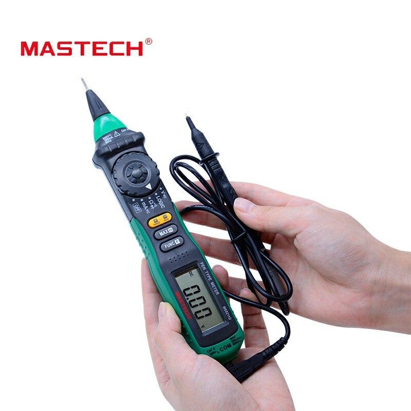 MasTech MS8211D pluma multímetro digital de tipo Auto de la gama multímetro digital Multitester probador de voltaje de corriente lógica probador de nivel de