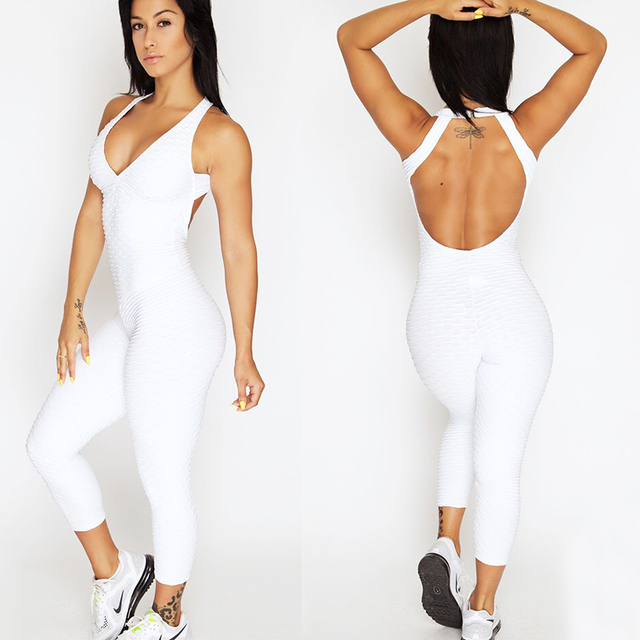 Backless Sportswear Fitness Tight Women's Tracksuits Sport Running Set Yoga Sets Workout Clothes Gym Clothes 5